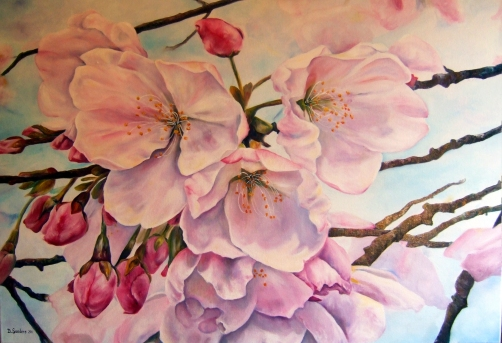Apple Blossoms 24 x 36 copy